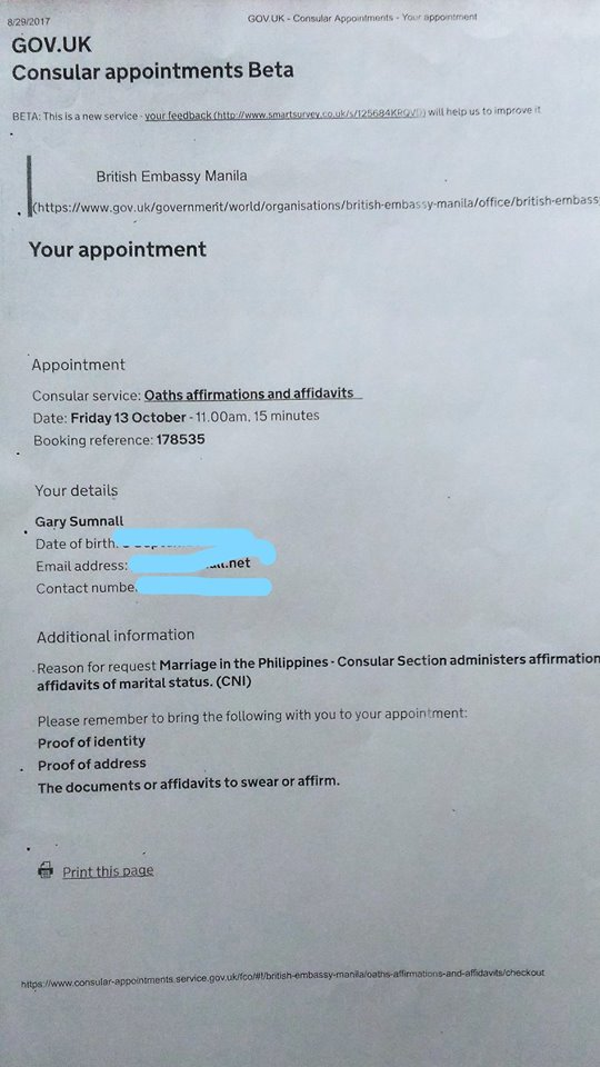 AFFIRMATION APPOINTMENT